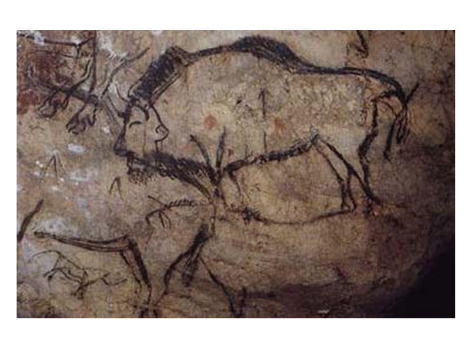 Bizon z jeskyně Niaux: zobrazen v zasažení šípy