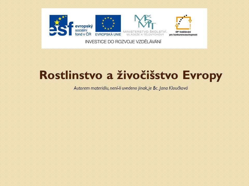 Rostlinstvo a živočišstvo Evropy