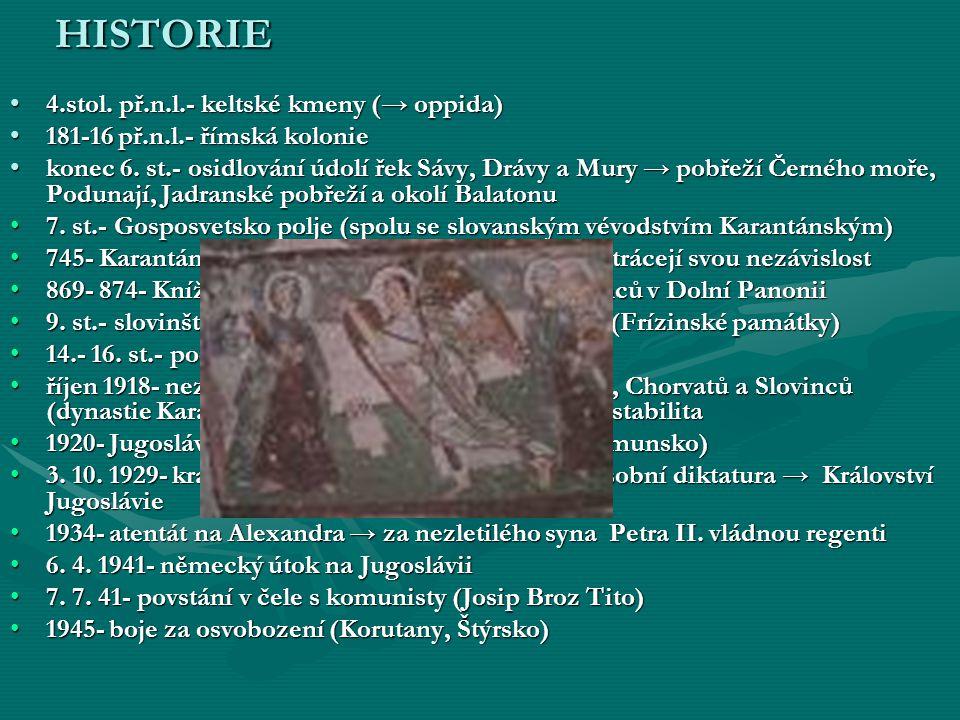 HISTORIE 4.stol. př.n.l.- keltské kmeny (→ oppida)