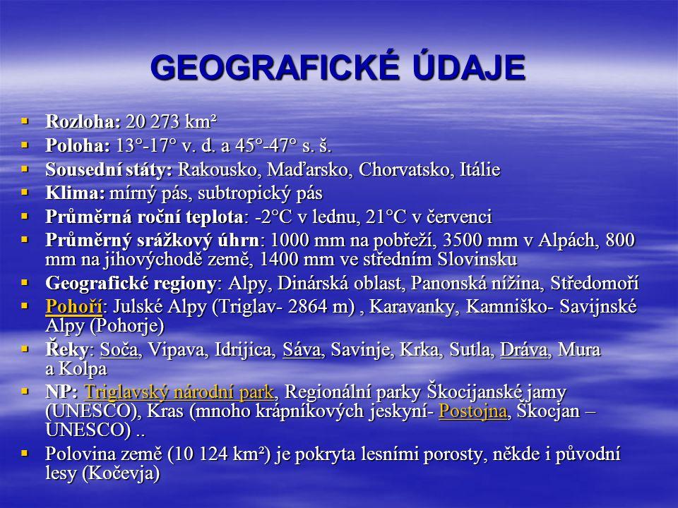 GEOGRAFICKÉ ÚDAJE Rozloha: 20 273 km²