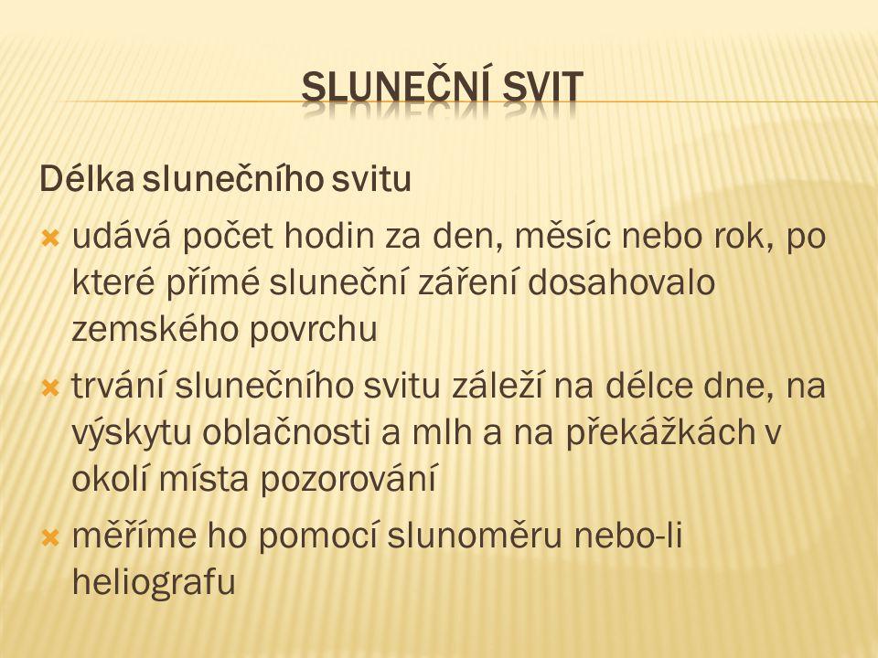Sluneční svit Délka slunečního svitu
