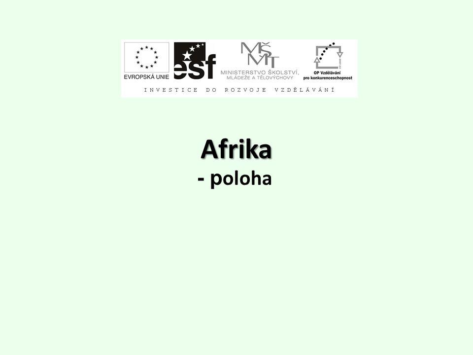 Afrika - poloha