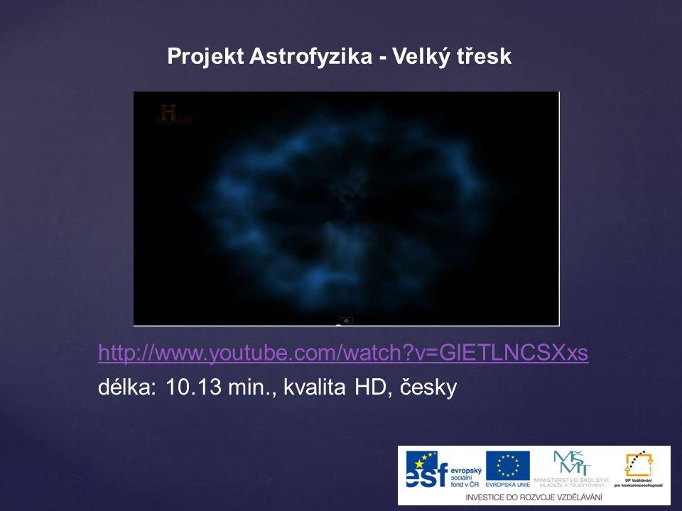 Projekt Astrofyzika - Velký třesk