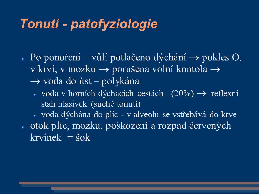 Tonutí - patofyziologie