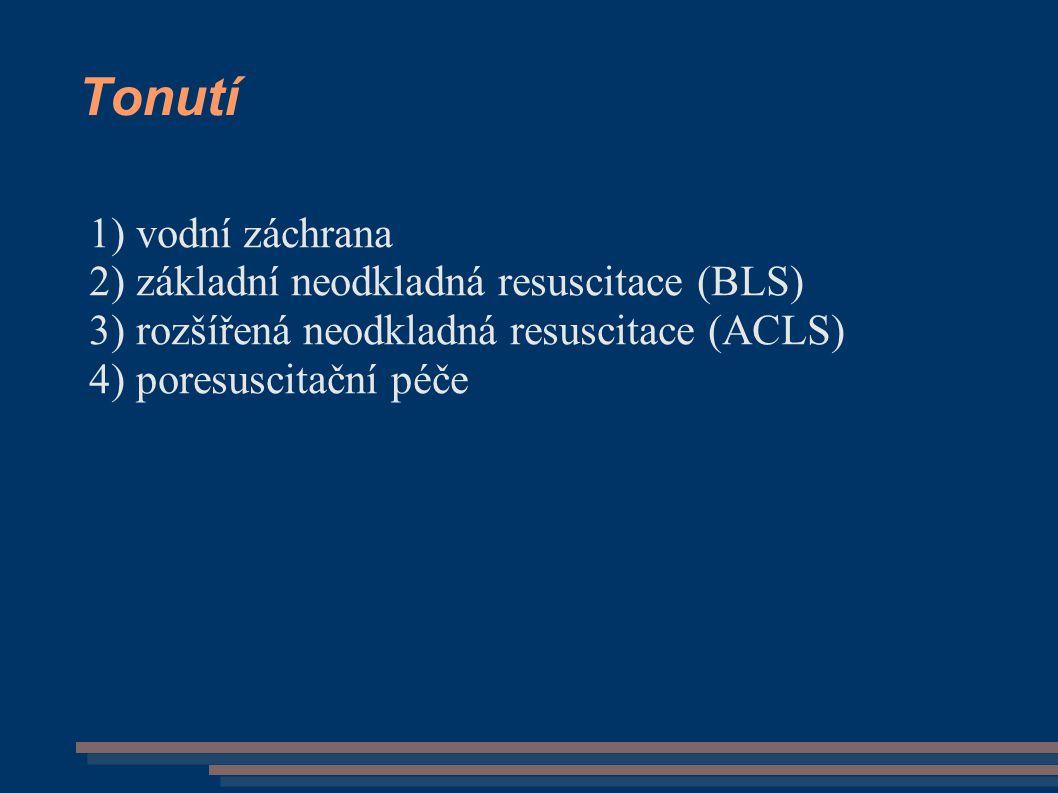 Tonutí vodní záchrana základní neodkladná resuscitace (BLS)