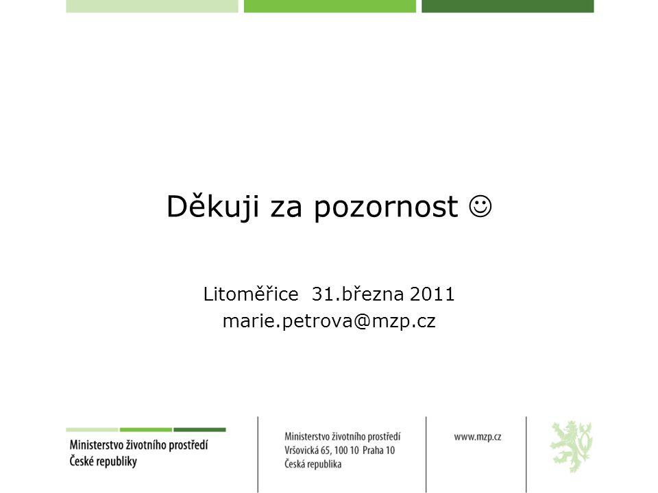 Litoměřice 31.března 2011 marie.petrova@mzp.cz