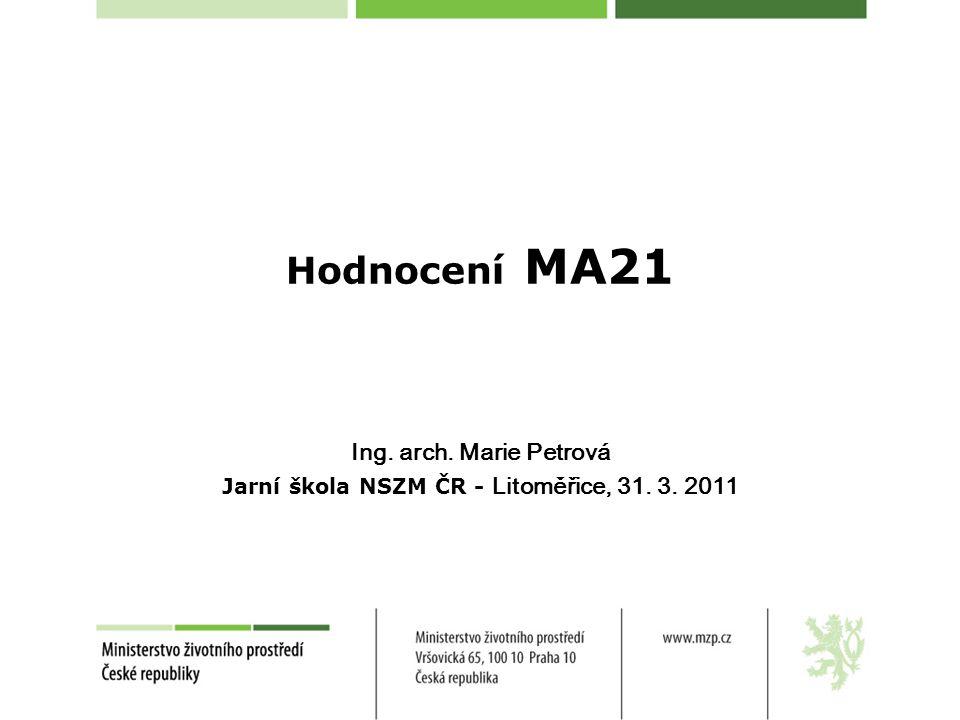 Ing. arch. Marie Petrová Jarní škola NSZM ČR - Litoměřice, 31. 3. 2011