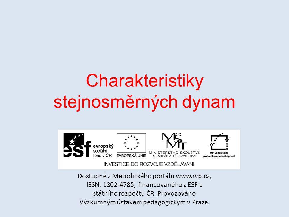 Charakteristiky stejnosměrných dynam