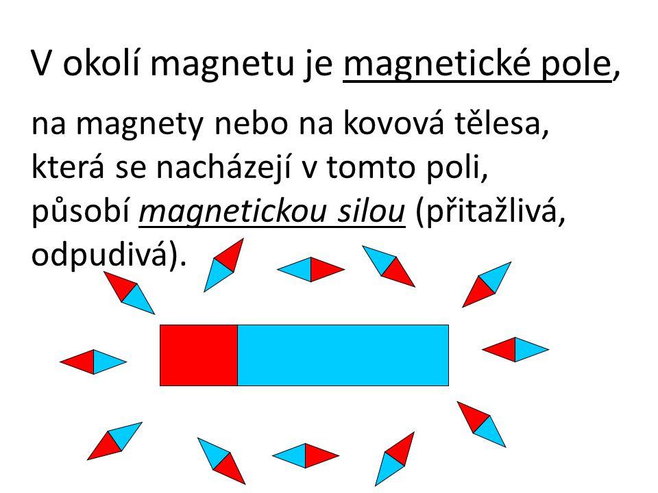 V okolí magnetu je magnetické pole,