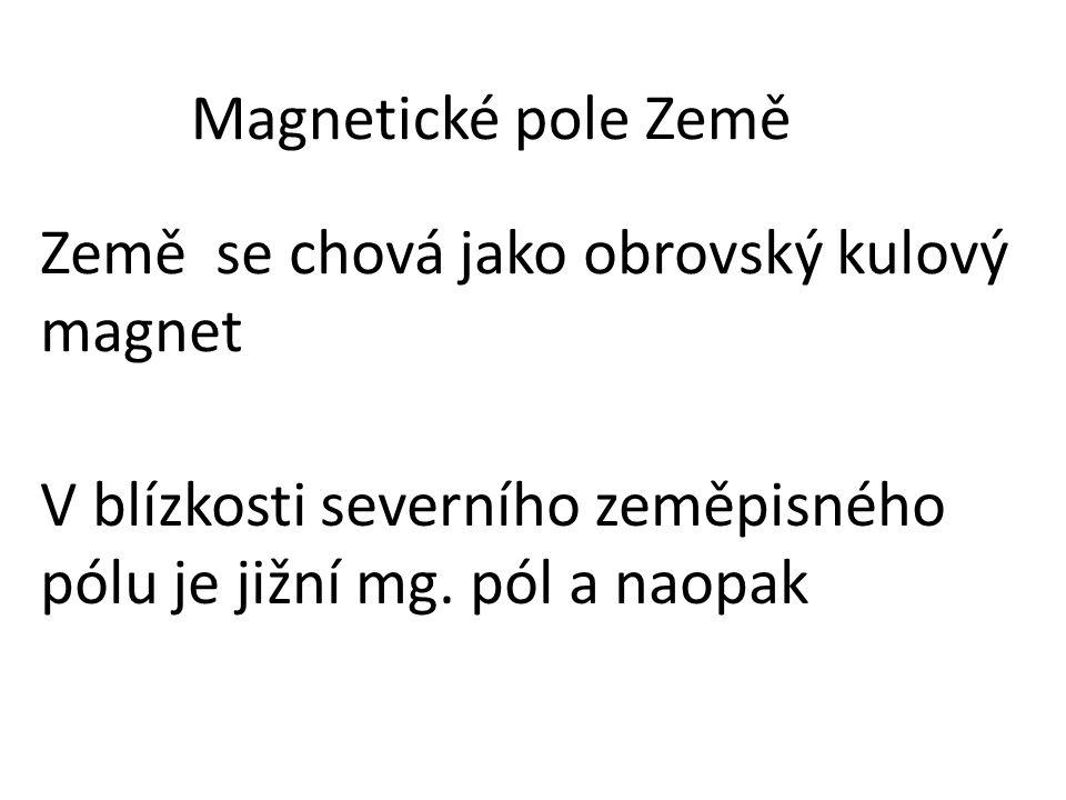 Magnetické pole Země Země se chová jako obrovský kulový magnet.
