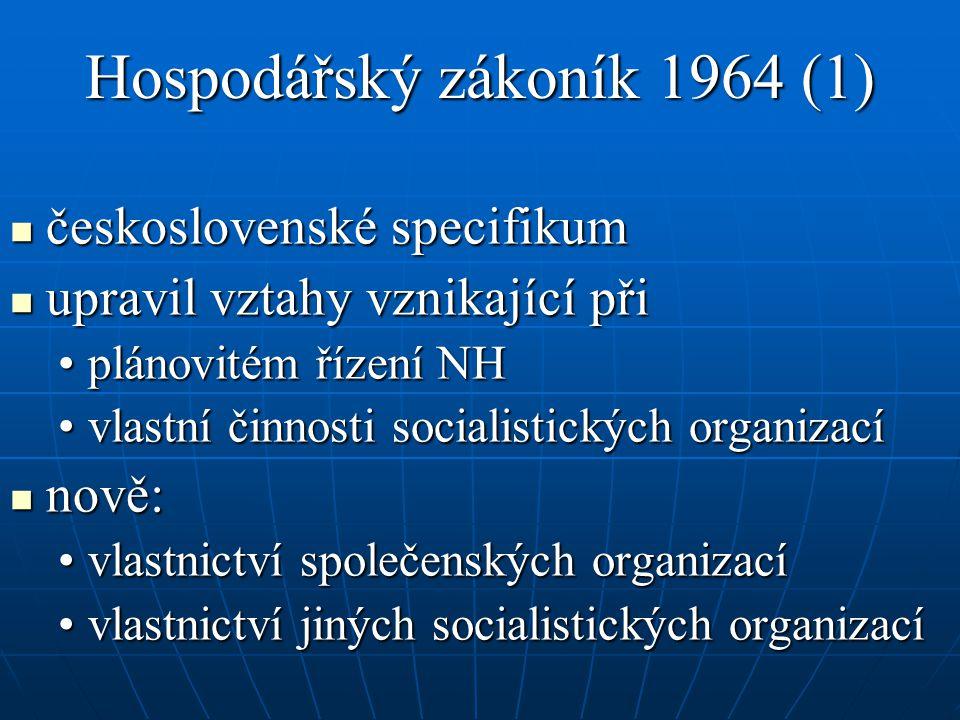 Hospodářský zákoník 1964 (1)