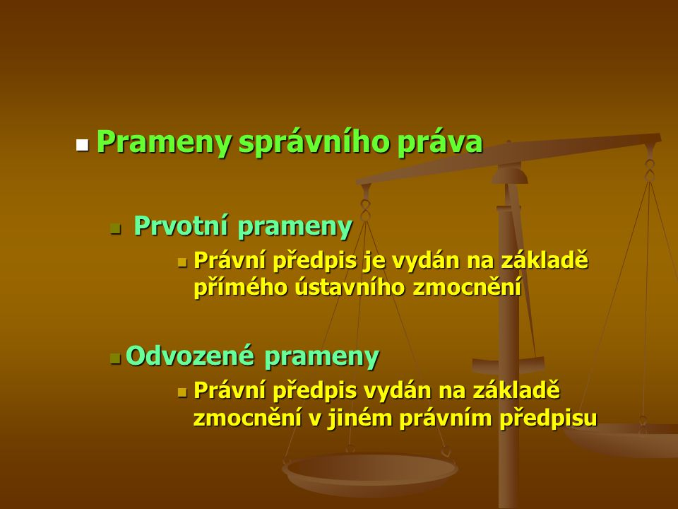 Prameny správního práva