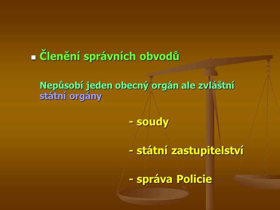 Členění správních obvodů