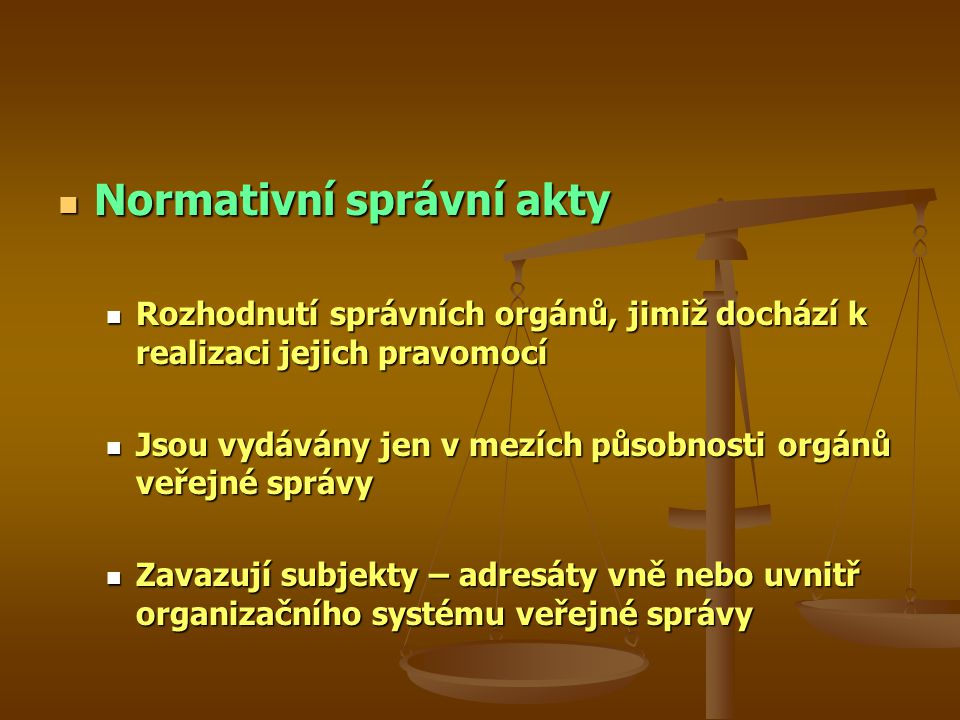 Normativní správní akty