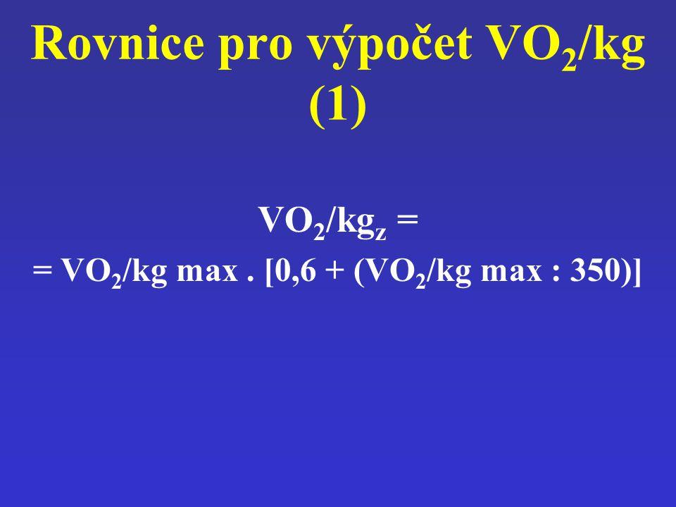 Rovnice pro výpočet VO2/kg (1)