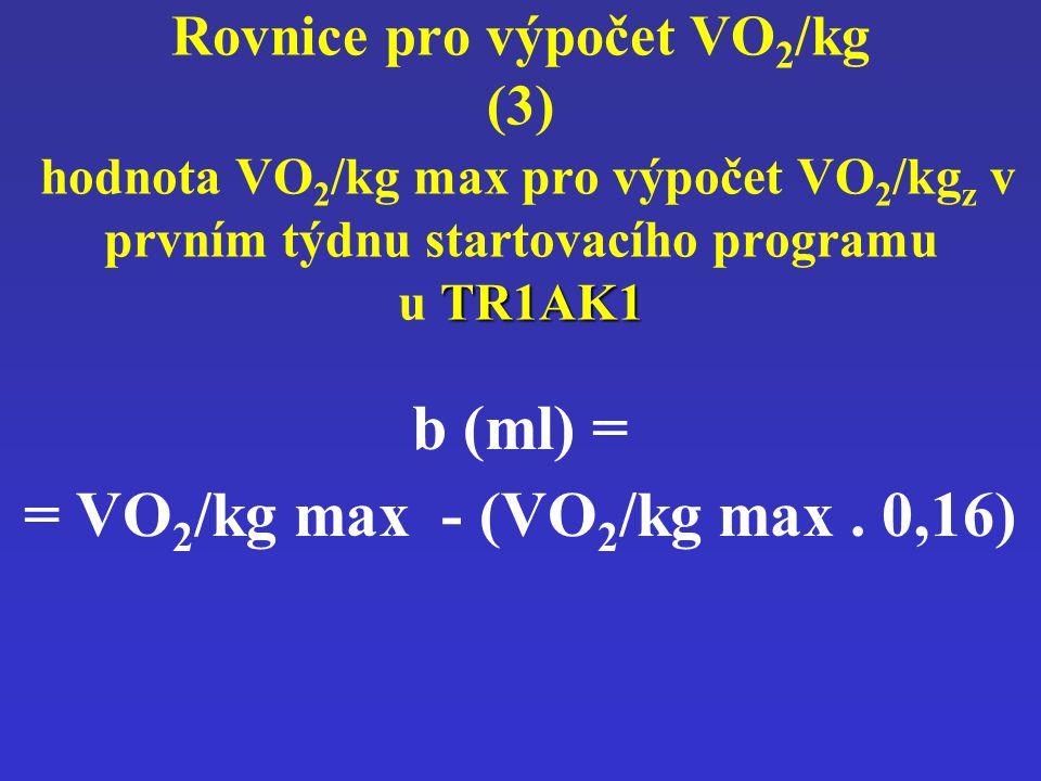 = VO2/kg max - (VO2/kg max . 0,16)