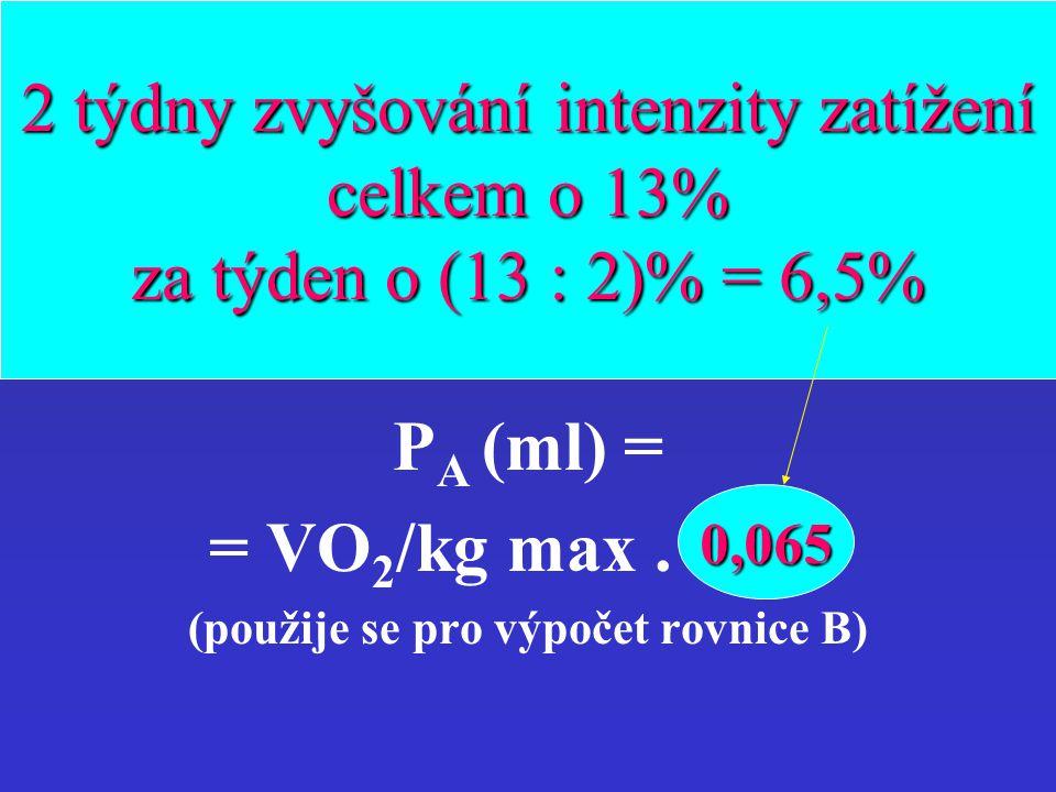 (použije se pro výpočet rovnice B)