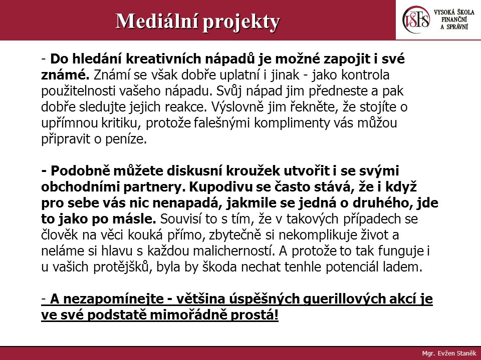 Mediální projekty