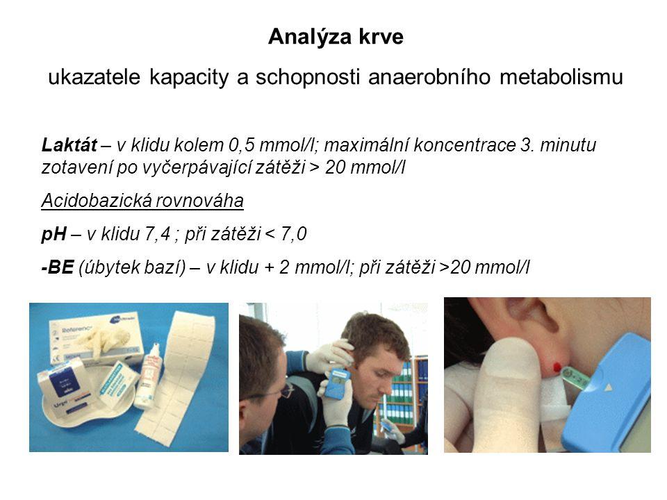 ukazatele kapacity a schopnosti anaerobního metabolismu