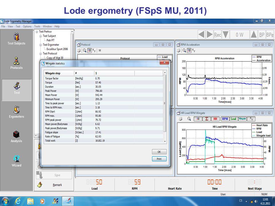 Lode ergometry (FSpS MU, 2011)