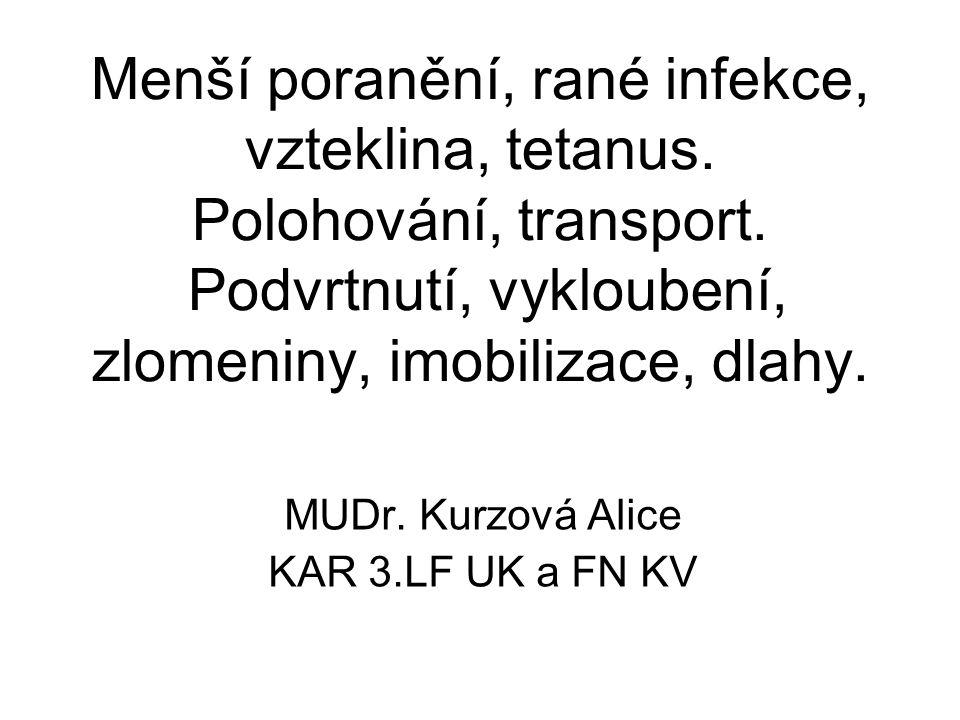 MUDr. Kurzová Alice KAR 3.LF UK a FN KV