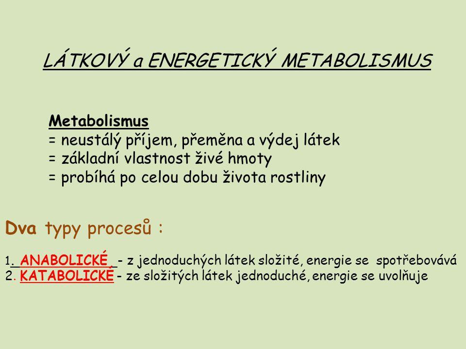 LÁTKOVÝ a ENERGETICKÝ METABOLISMUS