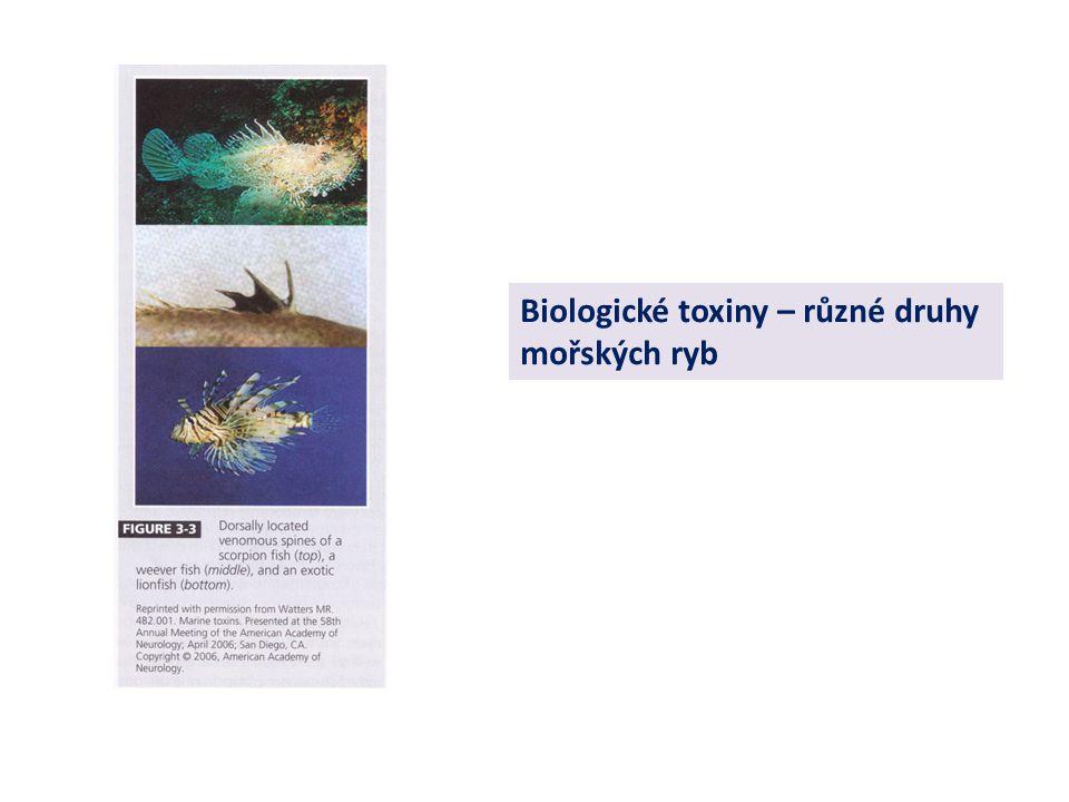 Biologické toxiny – různé druhy