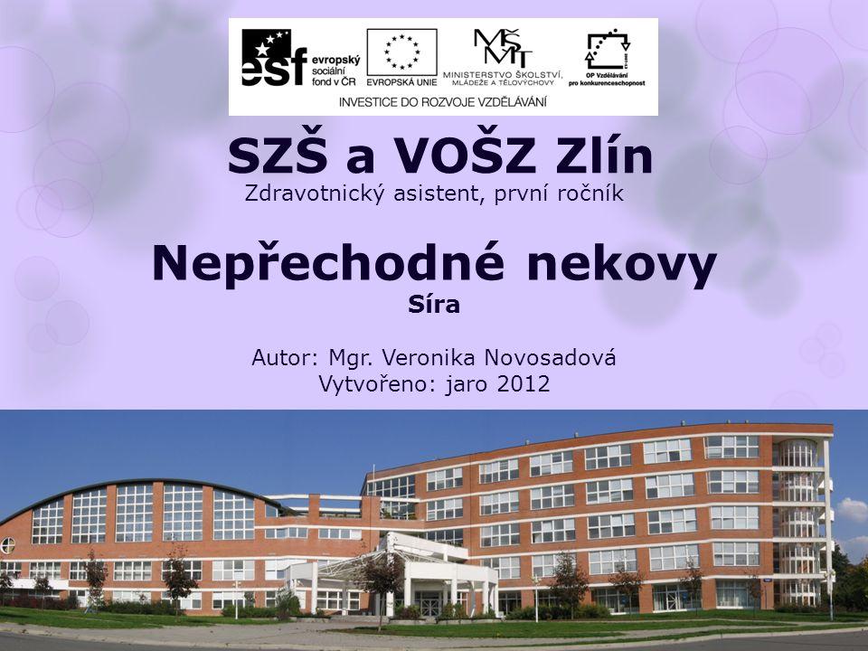 Zdravotnický asistent, první ročník Nepřechodné nekovy Síra Autor: Mgr