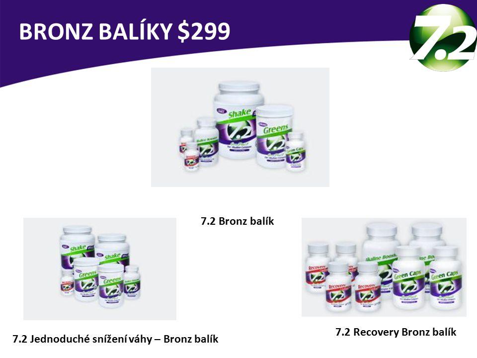 BRONZ BALÍKY $299 7.2 Bronz balík 7.2 Recovery Bronz balík