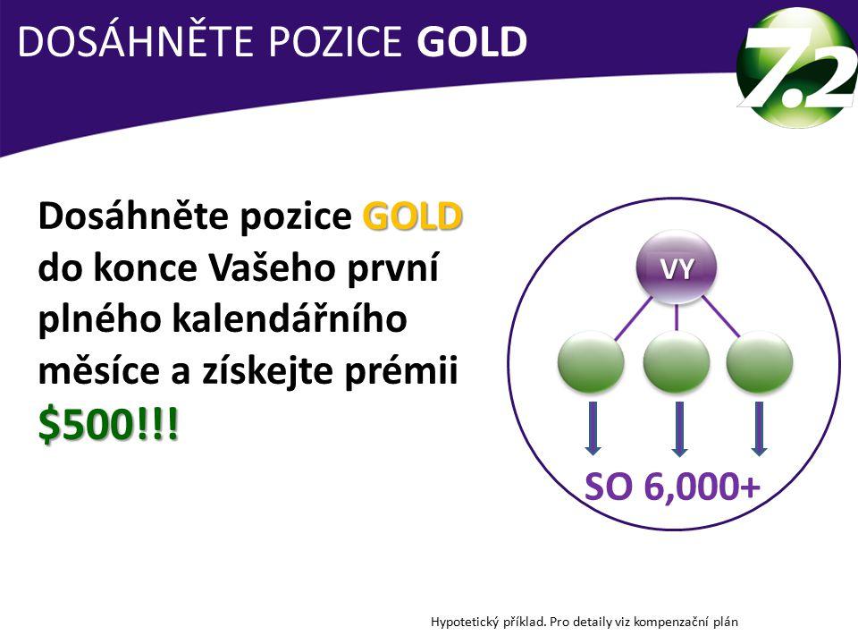 DOSÁHNĚTE POZICE GOLD Dosáhněte pozice GOLD do konce Vašeho první plného kalendářního měsíce a získejte prémii $500!!!