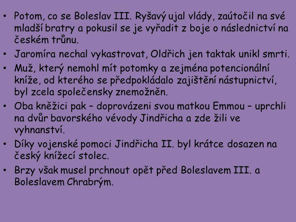 Potom, co se Boleslav III
