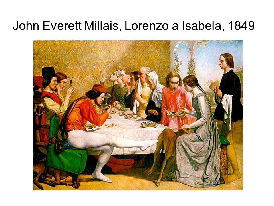 John Everett Millais, Lorenzo a Isabela, 1849