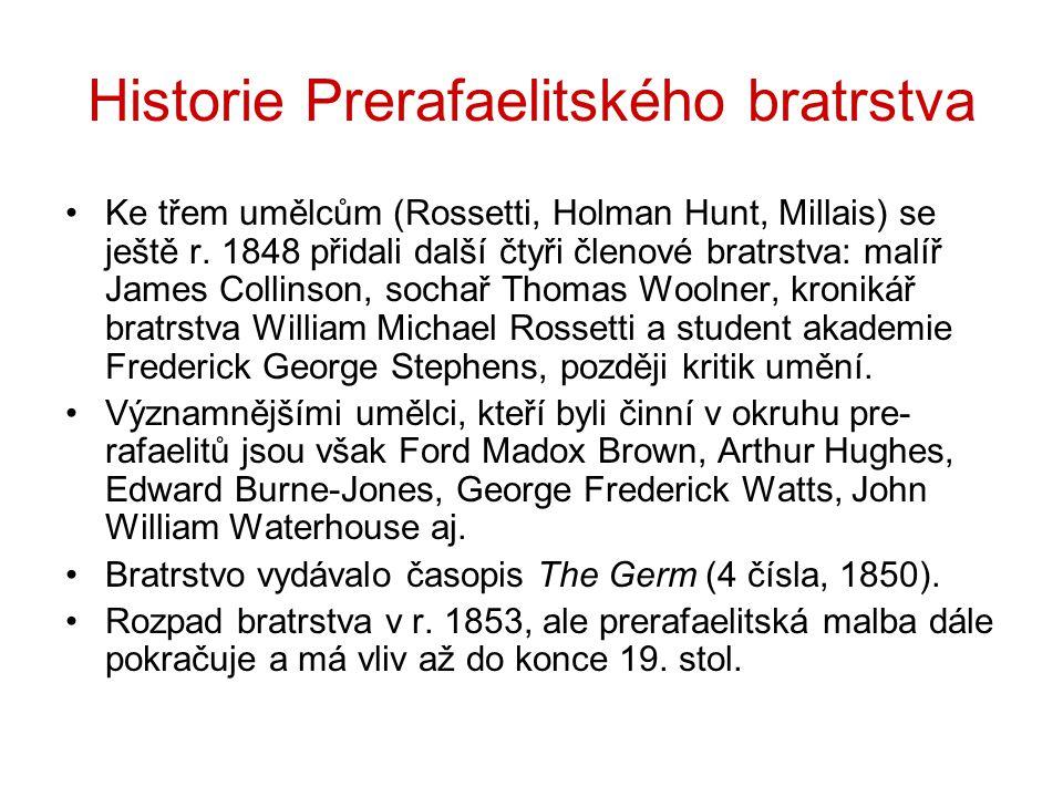 Historie Prerafaelitského bratrstva