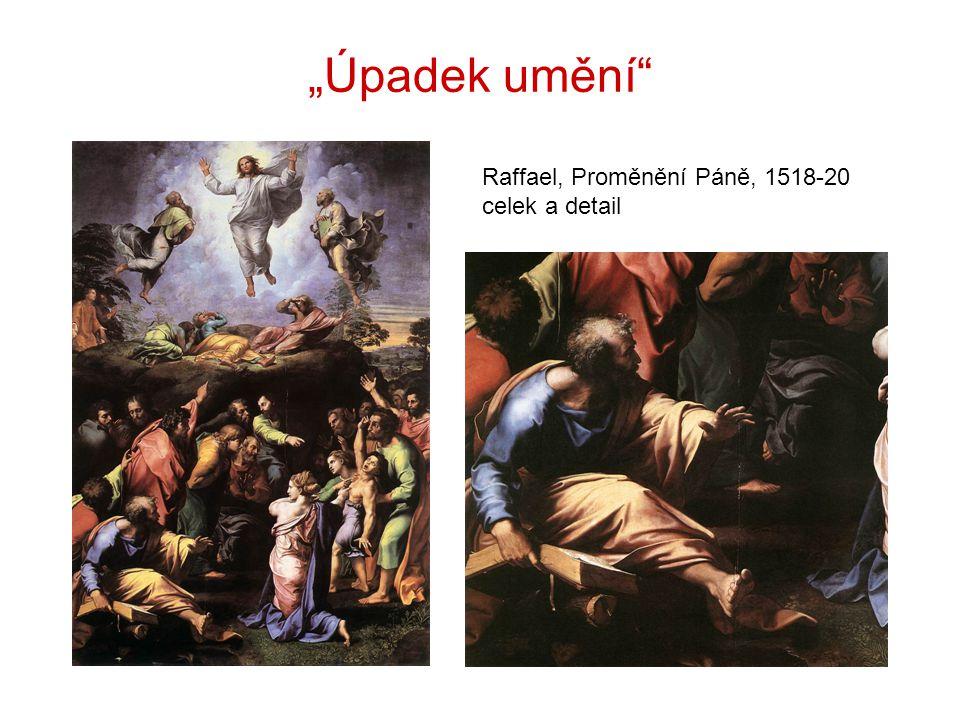 """""""Úpadek umění Raffael, Proměnění Páně, 1518-20 celek a detail"""
