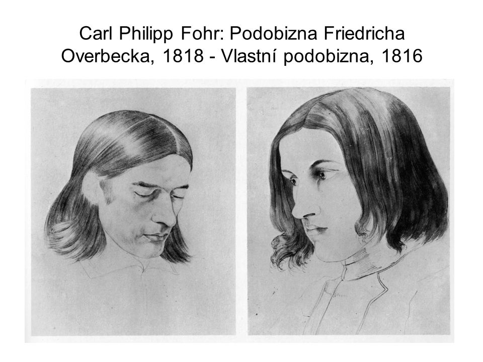 Carl Philipp Fohr: Podobizna Friedricha Overbecka, 1818 - Vlastní podobizna, 1816