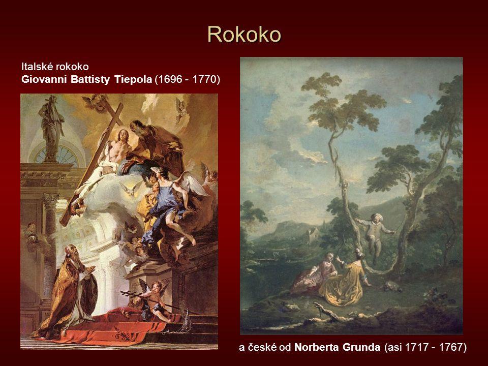 Rokoko Italské rokoko Giovanni Battisty Tiepola (1696 - 1770)