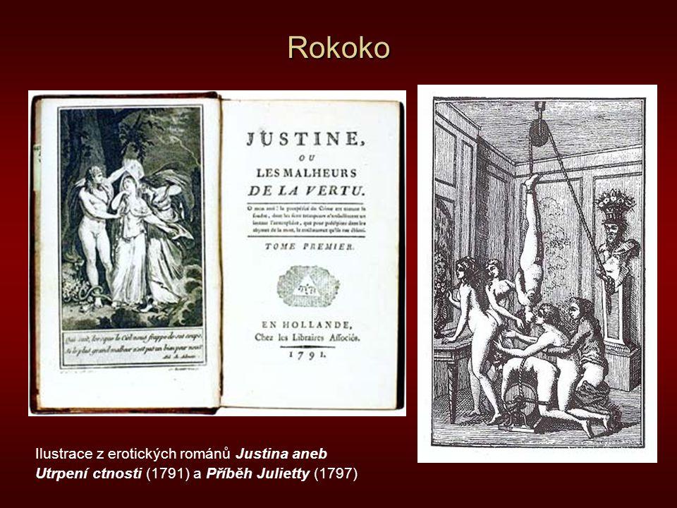 Rokoko Ilustrace z erotických románů Justina aneb