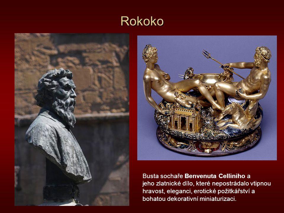 Rokoko Busta sochaře Benvenuta Celliniho a