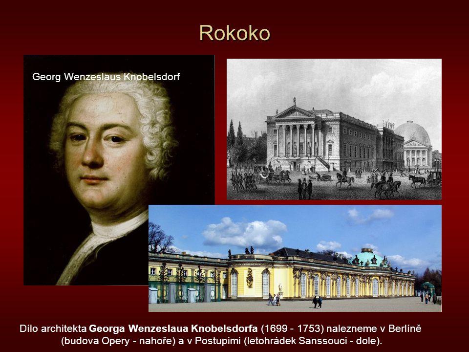 (budova Opery - nahoře) a v Postupimi (letohrádek Sanssouci - dole).