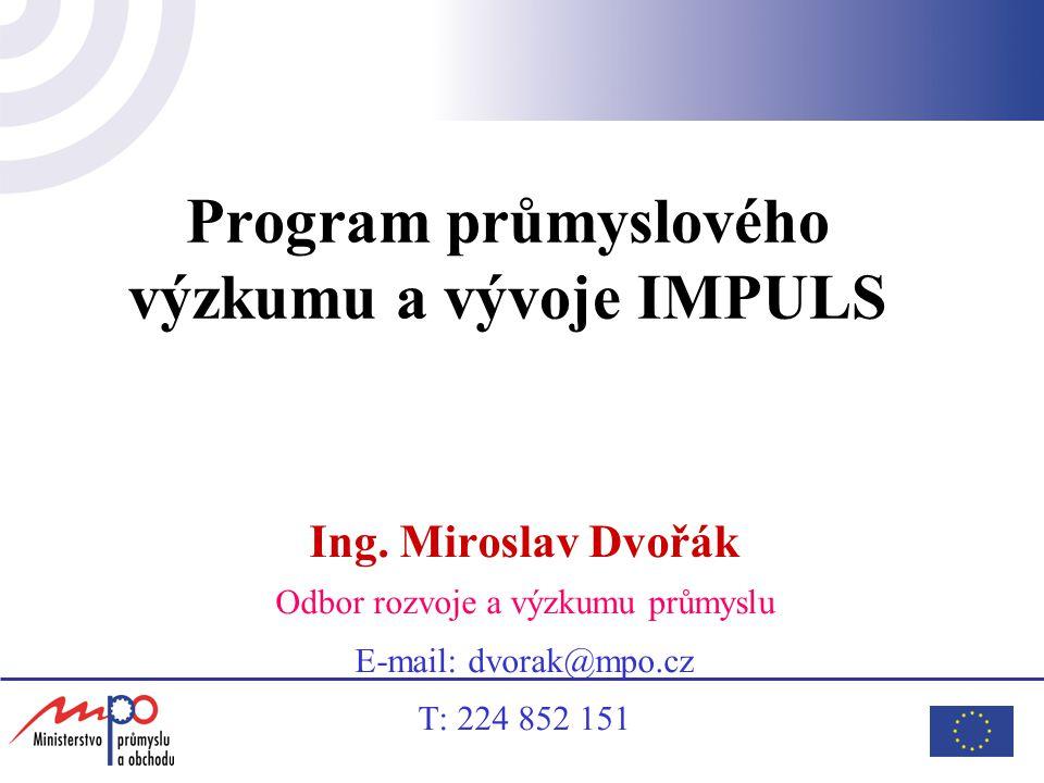 Program průmyslového výzkumu a vývoje IMPULS