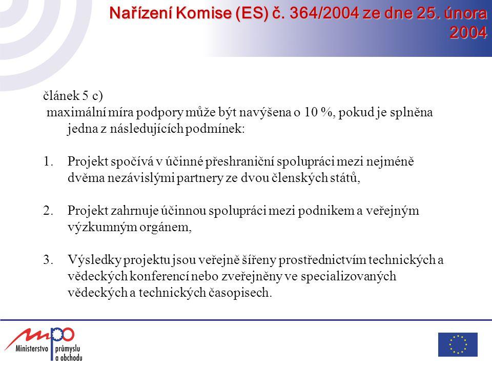 Nařízení Komise (ES) č. 364/2004 ze dne 25. února 2004