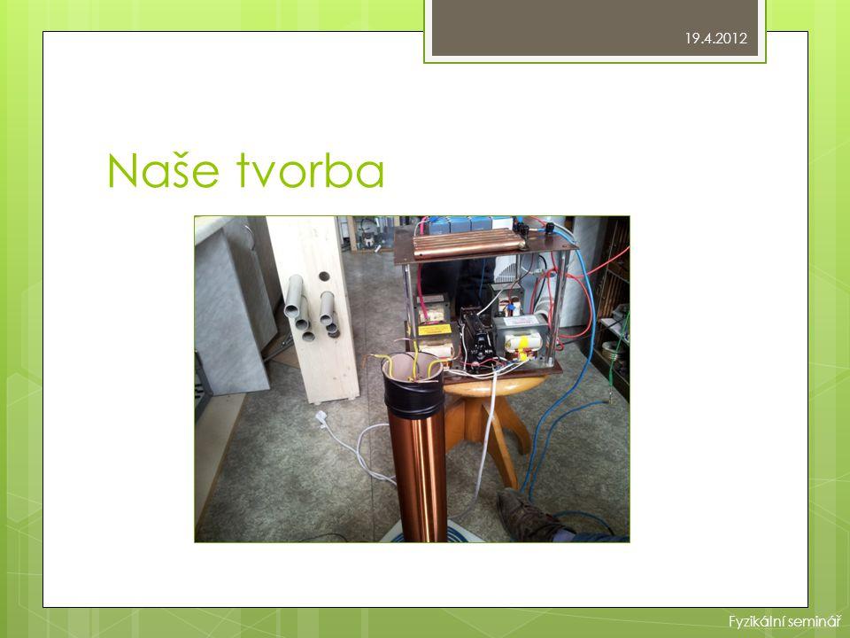 19.4.2012 Naše tvorba Fyzikální seminář