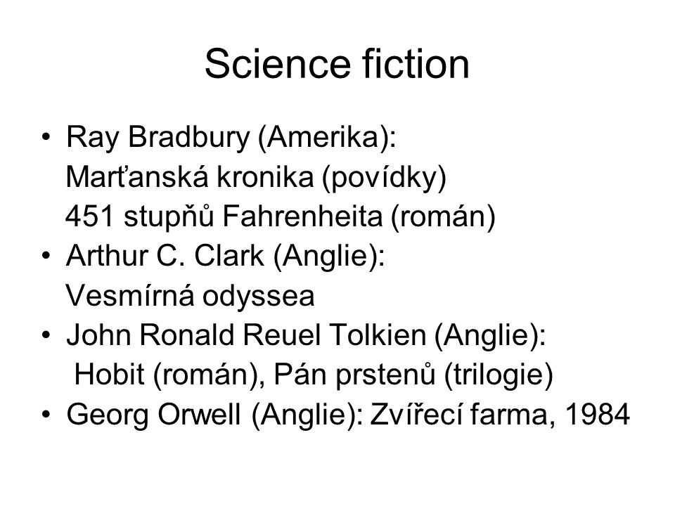 Science fiction Ray Bradbury (Amerika): Marťanská kronika (povídky)
