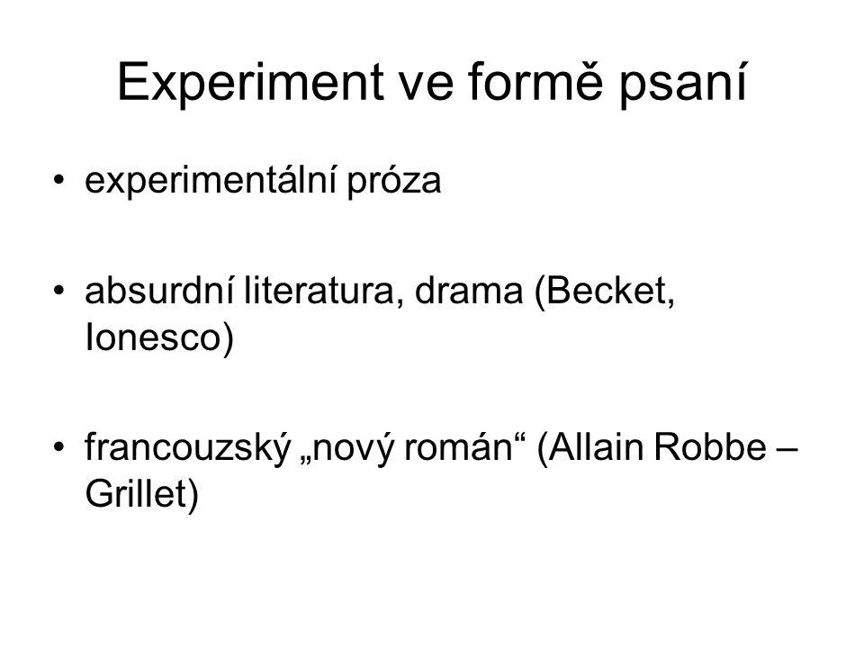 Experiment ve formě psaní