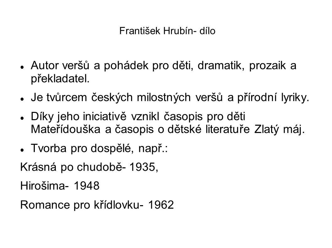 František Hrubín- dílo