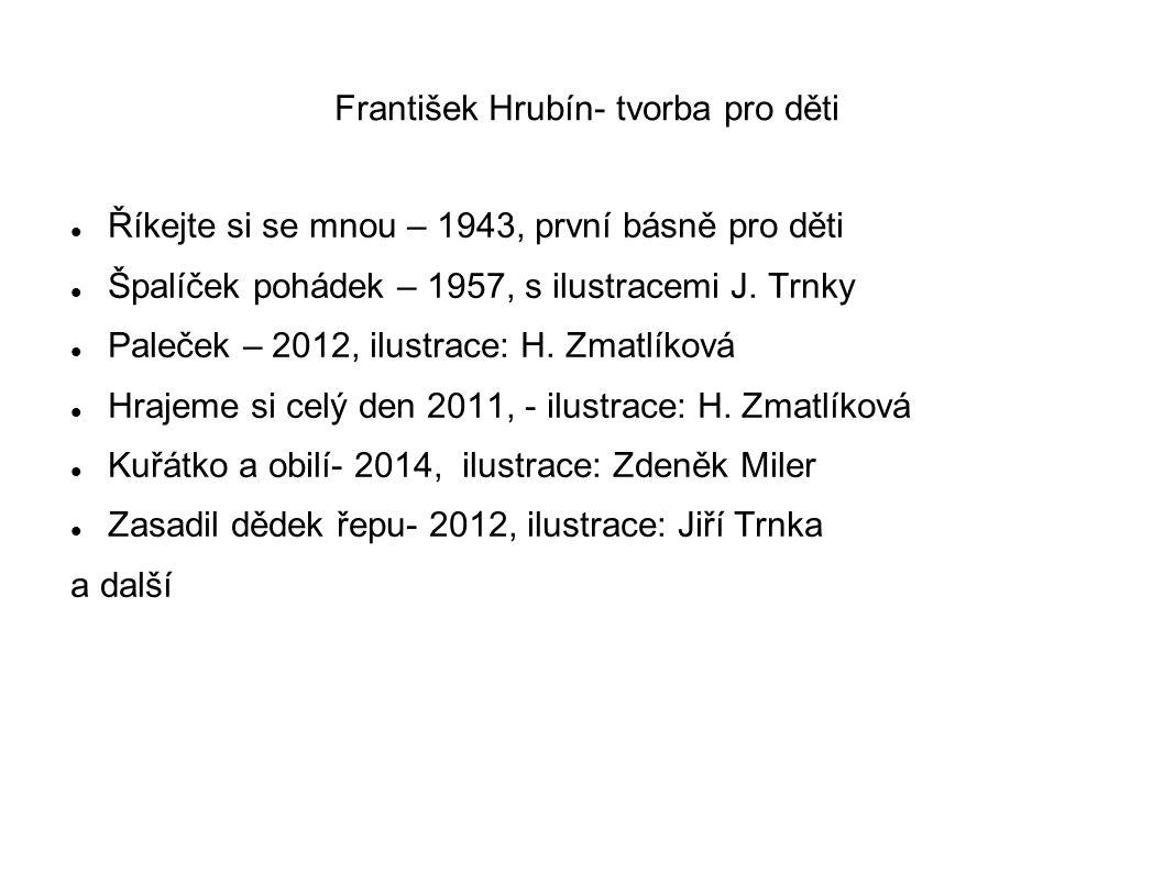 František Hrubín- tvorba pro děti