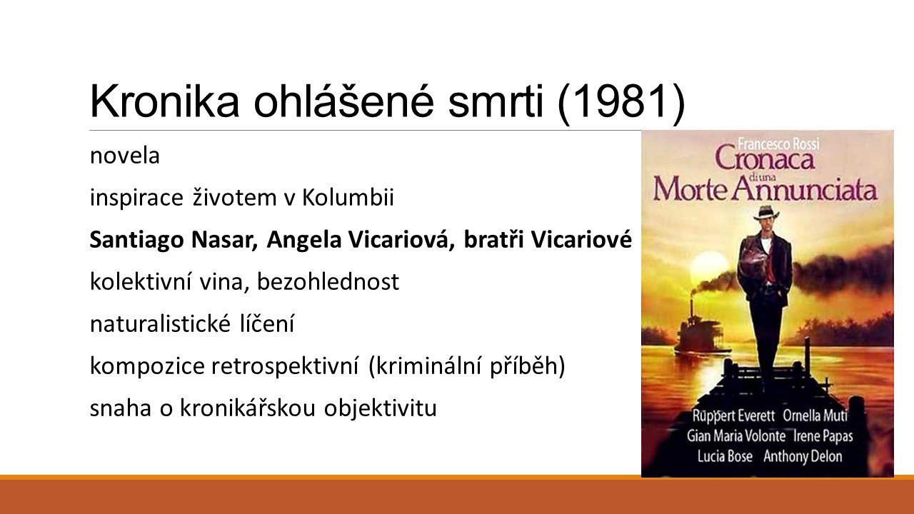Kronika ohlášené smrti (1981)