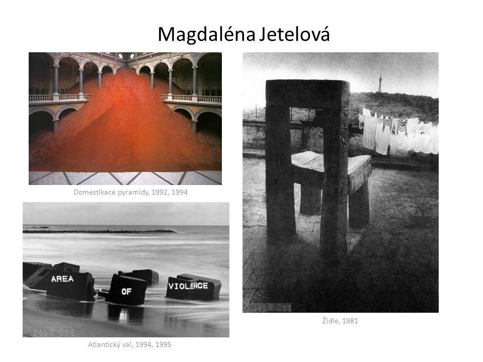 Magdaléna Jetelová Domestikace pyramidy, 1992, 1994 Židle, 1981