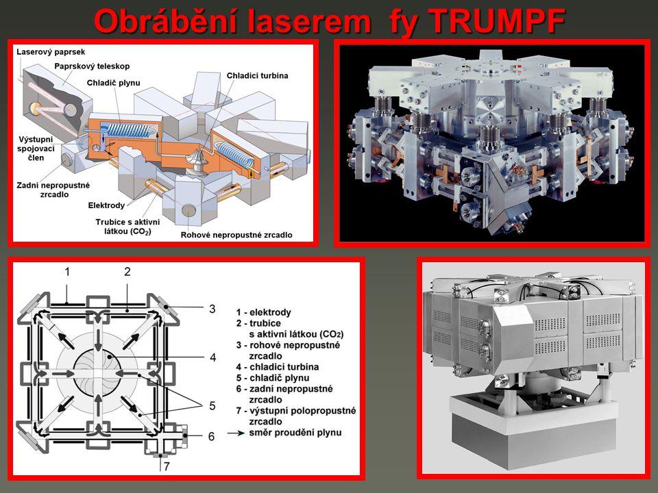 Obrábění laserem fy TRUMPF