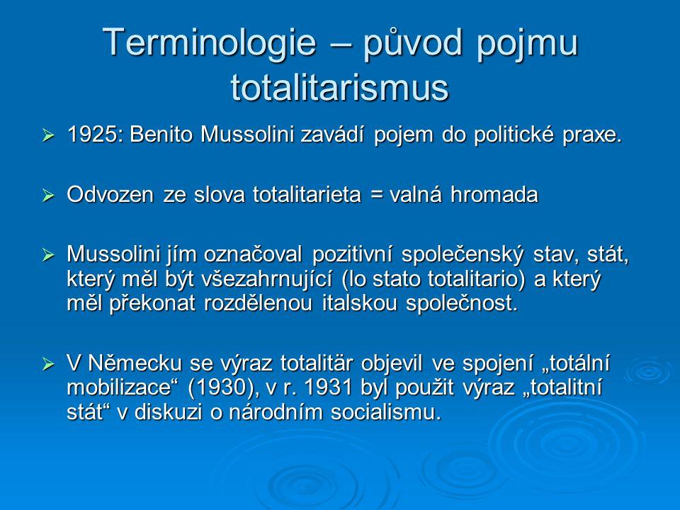 Terminologie – původ pojmu totalitarismus